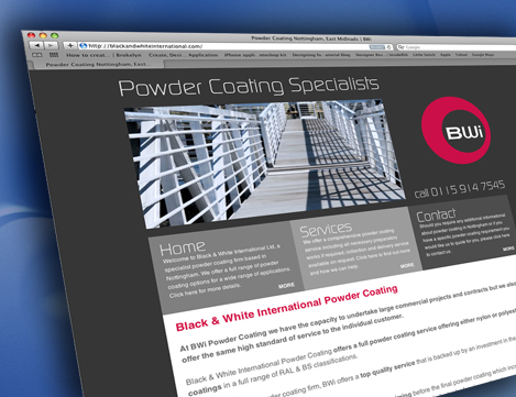 Nottingham Powder Coaters website