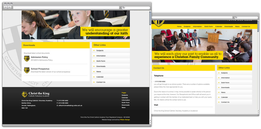 School Prospectus and website design 2