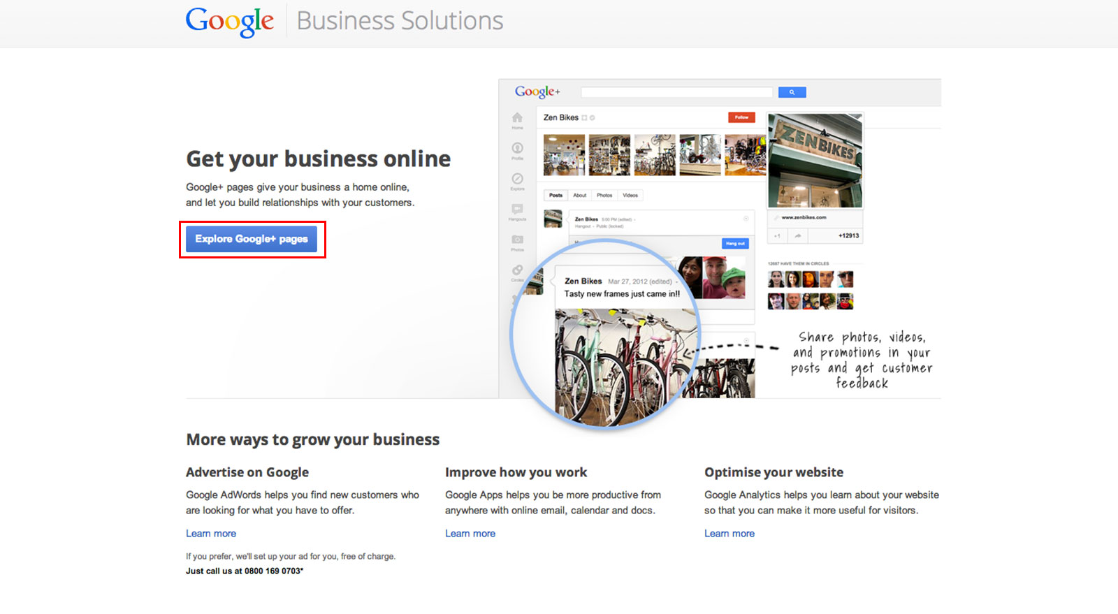 creating a Google Plus profile for a business
