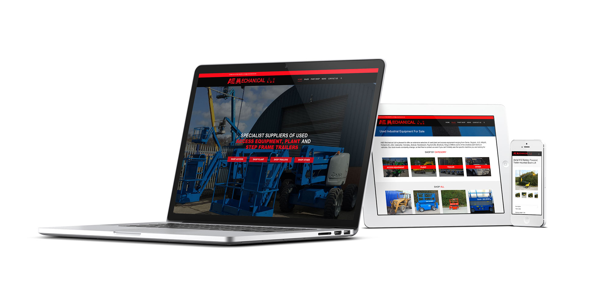 A&E Mechanical Website Design