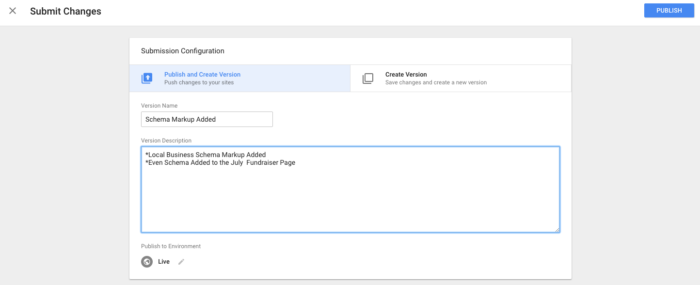 GTM Submit Example