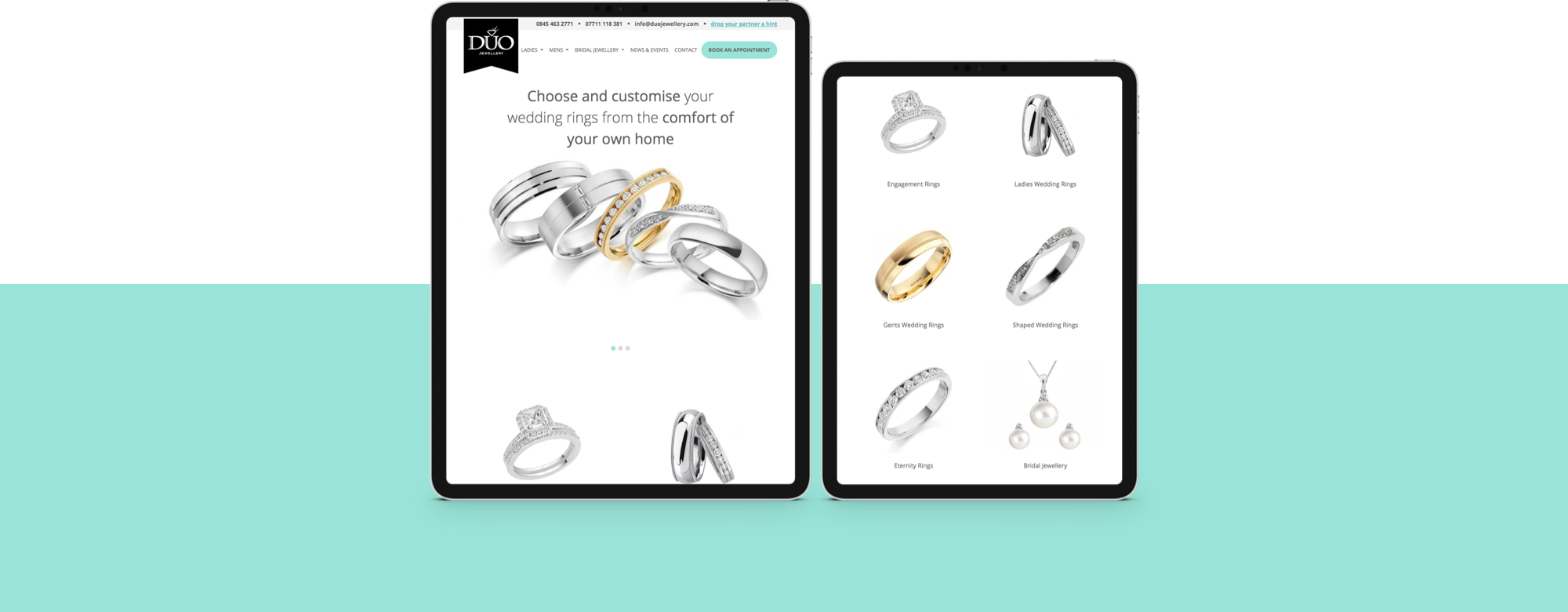Website design for Jewellers